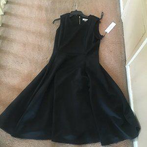 Calvin Klein Black flare midi dress